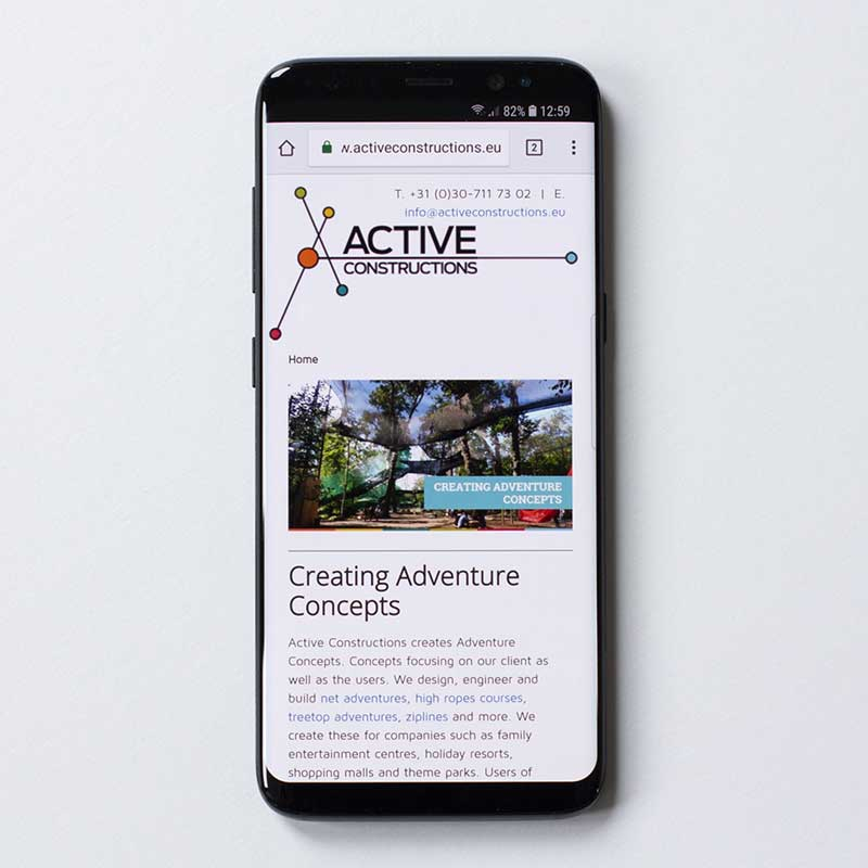 Mobile website Active Constructions